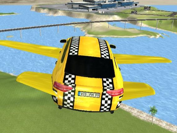 لعبة Ultimate Flying Car 3D