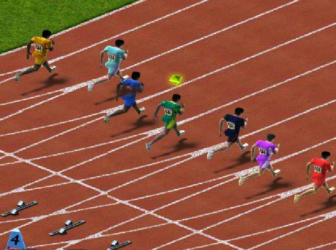 100m Race Game