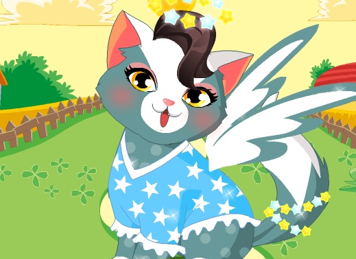 Angel Cat Dress Up Game