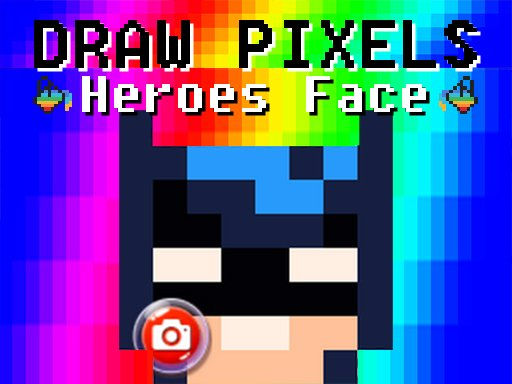 Draw Pixels Heroes Face Game