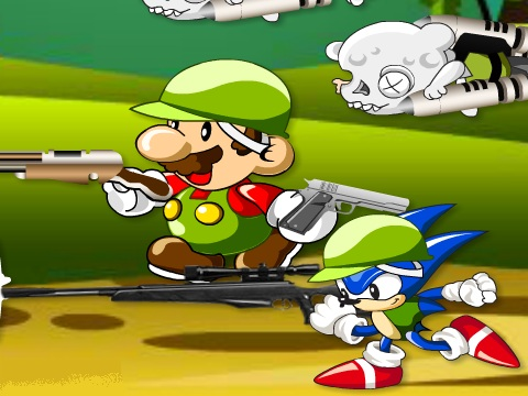 Mario and Sonic Zombie Killer Game