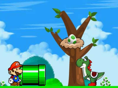 Mario And Yoshi Eggs Game