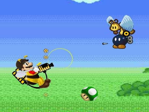 Mario Bee Defense Game