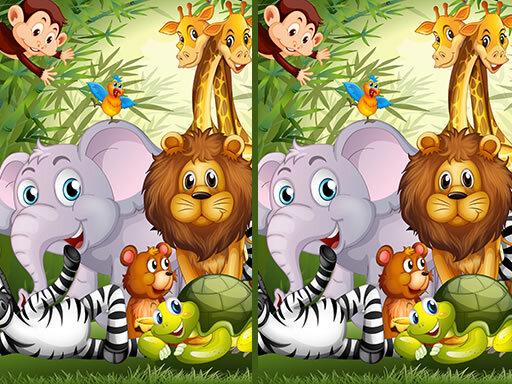 Jeu de Find Seven Differences Animals