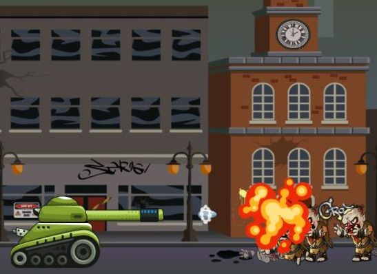 Jeu de Tank vs Zombies