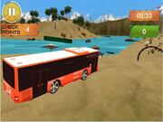 Beach Bus Driving - Water Surface Bus Game