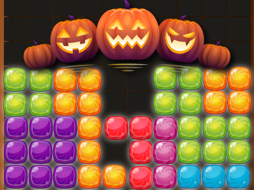 Candy Puzzle Blocks Halloween spiel