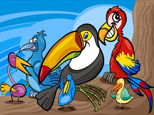 Exotic Birds Coloring spiel